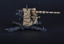 German 88mm FlaK 36 - Anti Aircraft Gun - Finished Model - 1/18