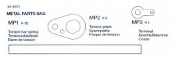 Metallteile Beutel (MP1 x16, MP2 x4, MP3 x1) für Tamiya 56010