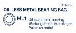 Oil less metall Bearing Bag (ML1 x34) for Tamiya Tiger I (56010) 1:16
