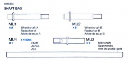 Achsenbeutel (MU1-MU4) für Tamiya Tiger I (56010) 1:16