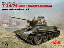 T-34/76  - Late 1943 Production - Soviet Medium Tank - 1/35