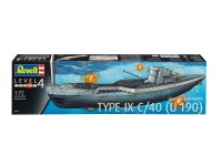 German Submarine Type IX C/40 U-190 - 1/72