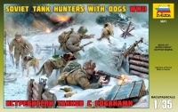Soviet Tank Hunters with Dogs WWII - 1/35